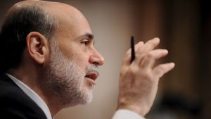 Den amerikanska centralbankens chef Ben Bernanke vittnar inför senatens budgetkommitté den 3 mars 2009