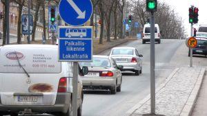 Trafik på Vasaesplanaden i Vasa
