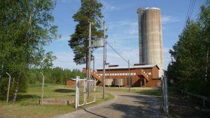 Det blivande besökscentret vid gruvan i Korsnäs.