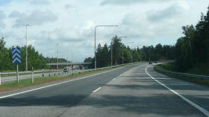 Avtaget från Lahtisleden till Borgå motorväg