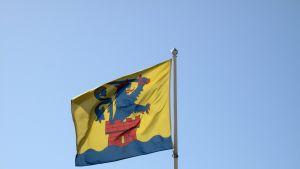 Jakobstad flaggar.