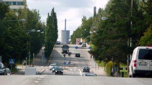 Trafik på Brändövägen i Vasa