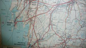 Karta över Sydösterbotten.