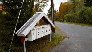 Postlådor i Västervik.