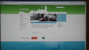 Lovisa stads nya webbplats