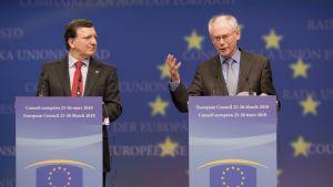 José Manuel Barroso och Herman Van Rompuy