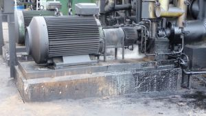 Bild från Neste Oils raffinaderianläggning i Sköldvik i Borgå