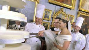 Bröllopstårtan vägde över 300 kg
