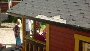 Lekstugan vid Österbo daghem har blivit utsatt för skadegörelse