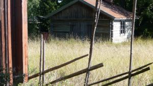 Gammal byggnad vid Sagalunds museum