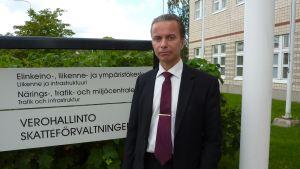 Vägdirektör Anders Östergård på NTM-centralen.