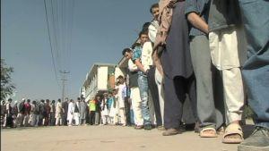 Afghaner köar i Kabul