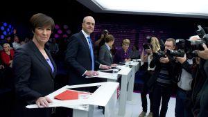 Mona Sahlin och Fredrik Reinfeldt