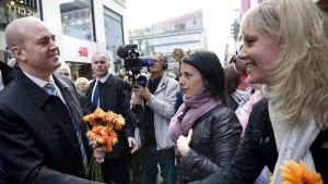 Fredrik Reinfeldt med svenska väljare