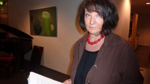 Monika Fagerholm använder gymnasieungdomars framtidsmanifest på Littfesten.