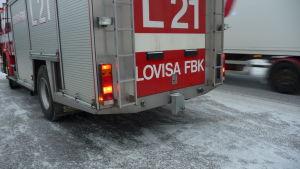 Lovisa FBK på utryckning.