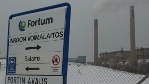 Fortums kolkraftverk i Ingå