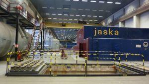 Inne i Fortums kolkraftverk i Ingå