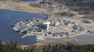 Bostadsmässområdet i Karleby i slutet av april 2011.