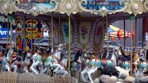 Gammaldags karusell på Wasalandia.