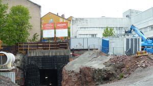 Bygge av metrostation