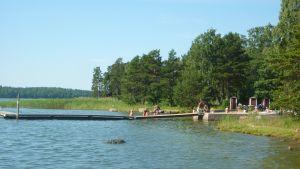 Björkuddens simstrand.