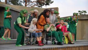 Till sist får gänget träffa trollkarlen från Oz, spelad av Tapio Laasonen.