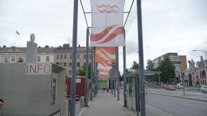 Busshållsplats vid Vasa torg.