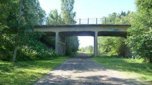 Järnvägsbron i Kristinestad.