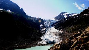 Triftglaciären i Schweiz