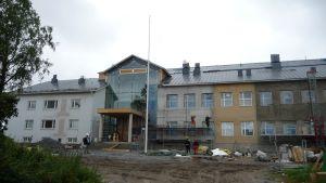 Byggarbeten vid Villa skola i Karleby