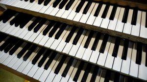 Orgelklaviatur.