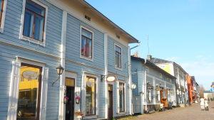 ågatan i gamla stan i Borgå