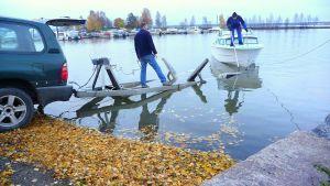 båtupptagning