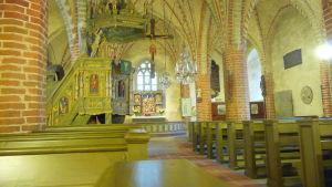 pernå kyrka - interiör