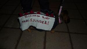 till och med hundar gick upp till kamp för Sjundeå