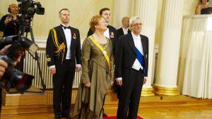 President Tarja Halonen med make