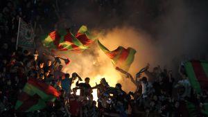 Rubin Kazan-supportrar firar