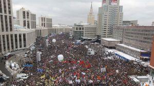 Demonstrationen i Moskva gick lugnt till