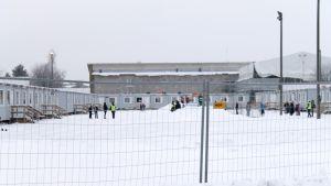 Kvarnbackens skola under renoveringen