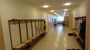 Korridor i Mustasaaren keskuskoulu