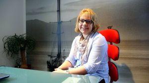 Anna Häggblom, vd för byggföretaget Aveo.