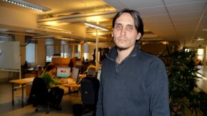 Petter Granroth, huvudförtroendeman på Vasabladets redaktion