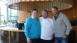 Det blev ett kärt återseende för Michael med restaurang Fond och Stefan Karlsson som Michael jobbade med för 10 år sedan
