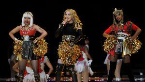 Nicki Minaj, Madonna och M.I.A. levererade på Super Bowl