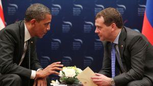 Presidenterna Barack Obama och Dmitrij Medvedev träffades under kärnsäkerhetsmötet.