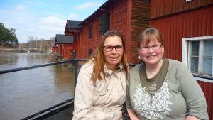 klimatpiloten Christina Grönroos och projektledare Christel Lindblad