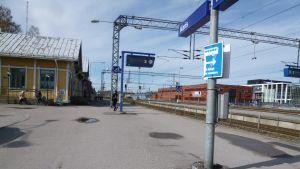 Tågtrafiken i hela södra Finland stod stilla 7.5.2012.