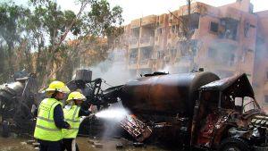 Bilbomb exploderade i Syrien.