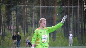 Jonathan Jäntti vaktade BK-målet mot FC Espoo.